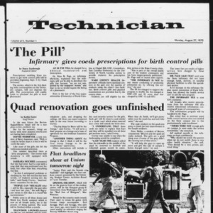 Technician, Vol. 54 No. 1, August 27, 1973