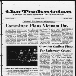 Technician, Vol. 54 No. 11 [Vol. 50 No. 11], October 10, 1969