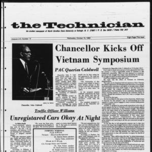 Technician, Vol. 54 No. 13 [Vol. 50 No. 13], October 15, 1969