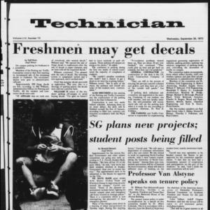 Technician, Vol. 54 No. 13, September 26, 1973