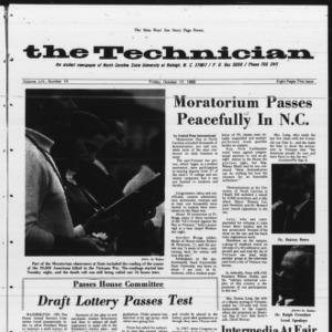 Technician, Vol. 54 No. 14 [Vol. 50 No. 14], October 17, 1969