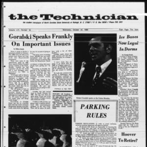 Technician, Vol. 54 No. 16 [Vol. 50 No. 16], October 22, 1969