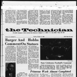Technician, Vol. 54 No. 18 [Vol. 50 No. 18], October 27, 1969