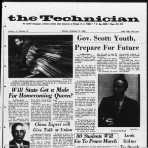 Technician, Vol. 54 No. 24 [Vol. 50 No. 24], November 10, 1969