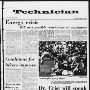 Technician, Vol. 54 No. 27, October 29, 1973