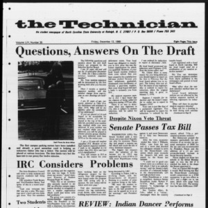 Technician, Vol. 54 No. 35 [Vol. 50 No. 35], December 12, 1969