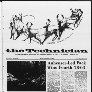 Technician, Vol. 54 No. 36 [Vol. 50 No. 36], December 15, 1969