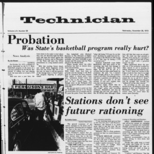 Technician, Vol. 54 No. 38, November 28, 1973