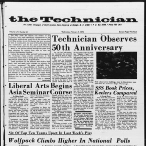 Technician, Vol. 54 No. 41 [Vol. 50 No. 41], February 4, 1970
