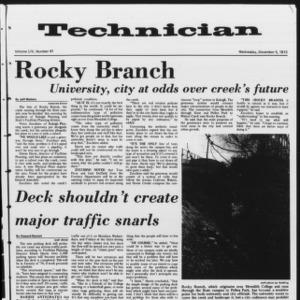 Technician, Vol. 54 No. 41, December 5, 1973
