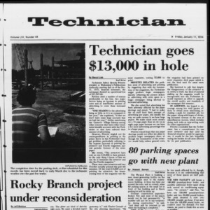 Technician, Vol. 54 No. 44, January 11, 1974