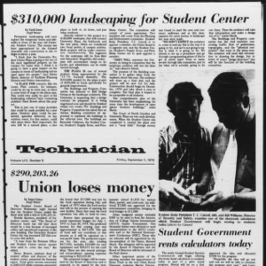 Technician, Vol. 54 No. 5, September 7, 1973