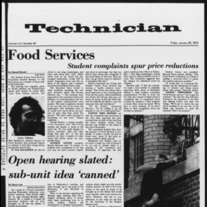 Technician, Vol. 54 No. 50, January 25, 1974