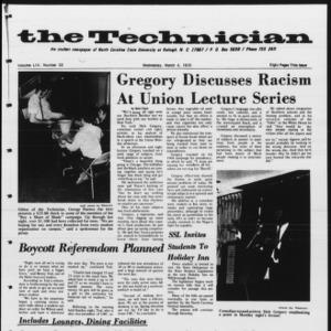 Technician, Vol. 54 No. 53 [Vol. 50 No. 53], March 4, 1970
