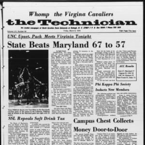 Technician, Vol. 54 No. 54 [Vol. 50 No. 54], March 6, 1970