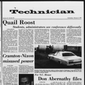 Technician, Vol. 54 No. 55, February 6, 1974