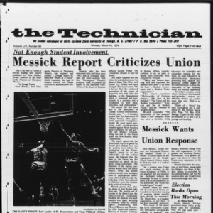 Technician, Vol. 54 No. 58 [Vol. 50 No. 58], March 16, 1970