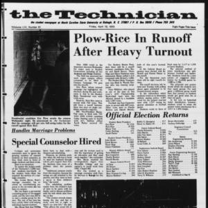 Technician, Vol. 54 No. 67 [Vol. 50 No. 67], April 10, 1970