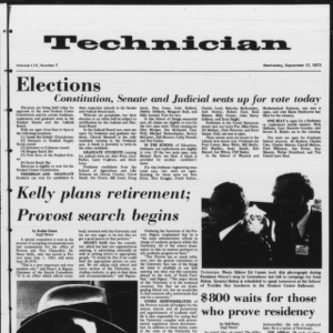 Technician, Vol. 54 No. 7, September 12, 1973