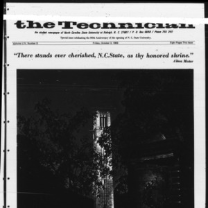 Technician, Vol. 54 No. 8 [Vol. 50 No. 8], October 3, 1969