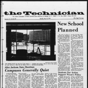 Technician, Vol. 54 No. 85 [Vol. 50 No. 85], May 18, 1970