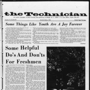 Technician, Vol. 54 No. 87 [Vol. 50 No. 87], Summer 1970