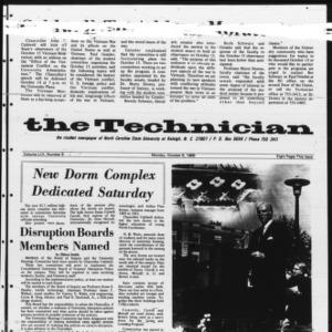 Technician, Vol. 54 No. 9 [Vol. 50 No. 9], October 6, 1969
