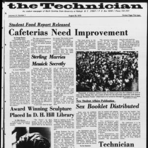 Technician, Vol. 55 No. 1 [Vol. 51 No. 1], August 28, 1970