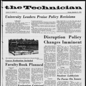 Technician, Vol. 55 No. 10 [Vol. 51 No. 10], September 21, 1970