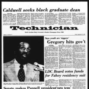 Technician, Vol. 55 No. 14, September 27, 1974