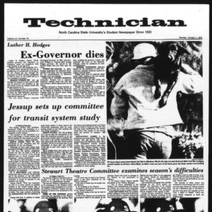 Technician, Vol. 55 No. 18, October 7, 1974
