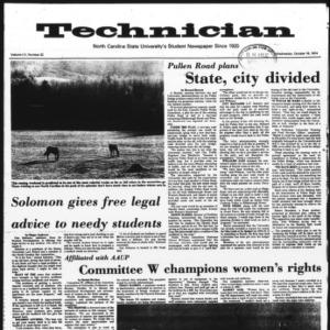 Technician, Vol. 55 No. 22, October 16, 1974