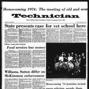 Technician, Vol. 55 No. 29 [25], November 1, 1974