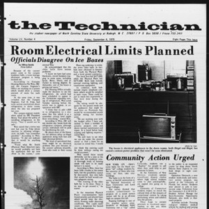 Technician, Vol. 55 No. 4 [Vol. 51 No. 4], September 4, 1970