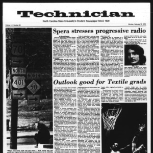 Technician, Vol. 55 No. 55 [52], February 10, 1975