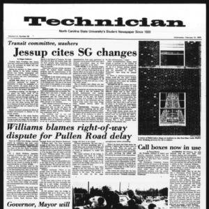 Technician, Vol. 55 No. 56 [53], February 12, 1975