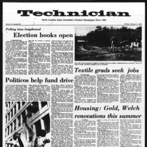 Technician, Vol. 55 No. 58 [55], February 17, 1975