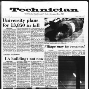 Technician, Vol. 55 No. 60 [57], February 21, 1975