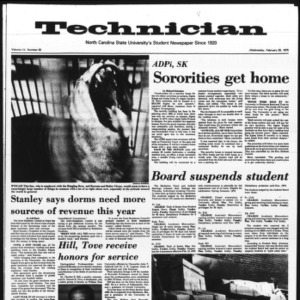 Technician, Vol. 55 No. 62 [59], February 26, 1975