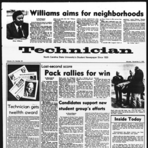 Technician, Vol. 56 No. 30, November 3, 1975