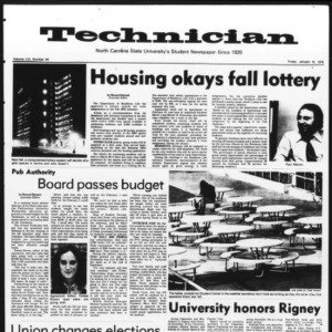 Technician, Vol. 56 No. 44, January 16, 1976