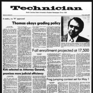 Technician, Vol. 56 No. 53 [84], April 30, 1976