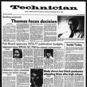 Technician, Vol. 56 No. 81, April 23, 1976