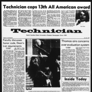 Technician, Vol. 56 No. 84 [83], April 28, 1976