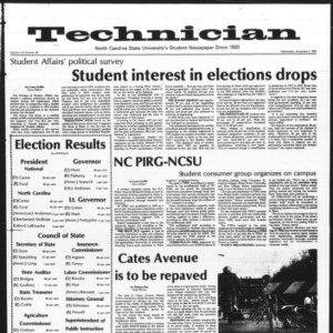 Technician, Vol. 57 No. 28, November 3, 1976