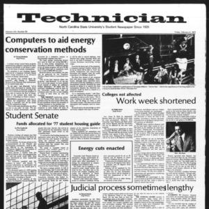 Technician, Vol. 57 No. 53, February 4, 1977