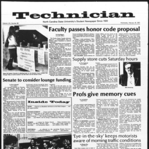 Technician, Vol. 57 No. 58, February 16, 1977
