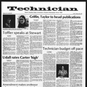 Technician, Vol. 57 No. 62, February 25, 1977