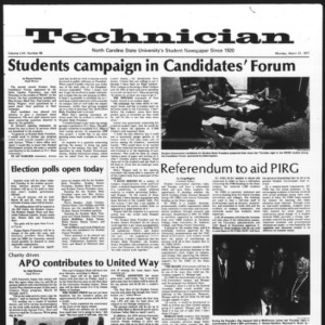 Technician, Vol. 57 No. 69, March 21, 1977