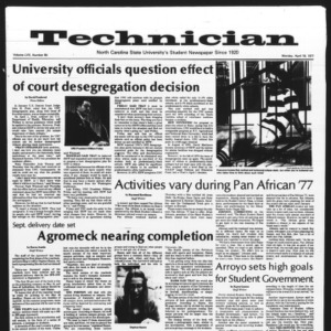 Technician, Vol. 57 No. 80, April 18, 1977
